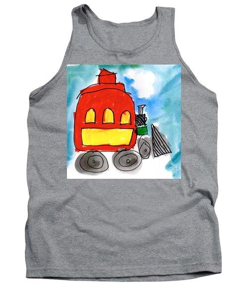 Red Train Tank Top