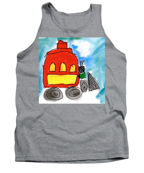 Red Train Tank Top