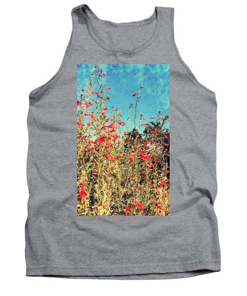 Red Trumpets Playing Tank Top
