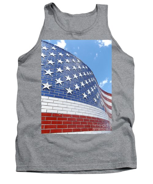 Red White And Blue Tank Top by Erick Schmidt