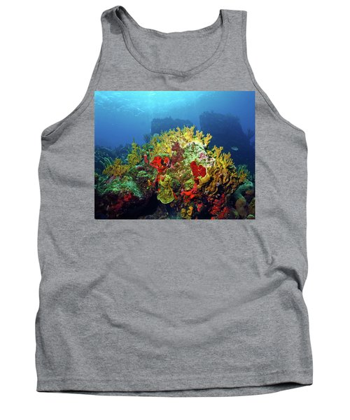 Reef Scene With Divers Bubbles Tank Top