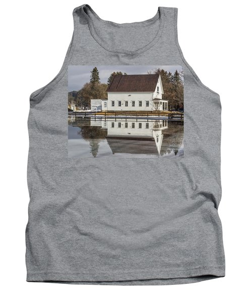 Reflected Town House Tank Top by Tim Kirchoff
