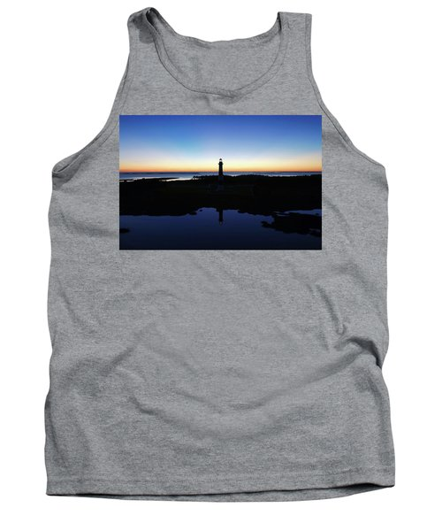 Reflection Of Bodie Light At Sunset Tank Top