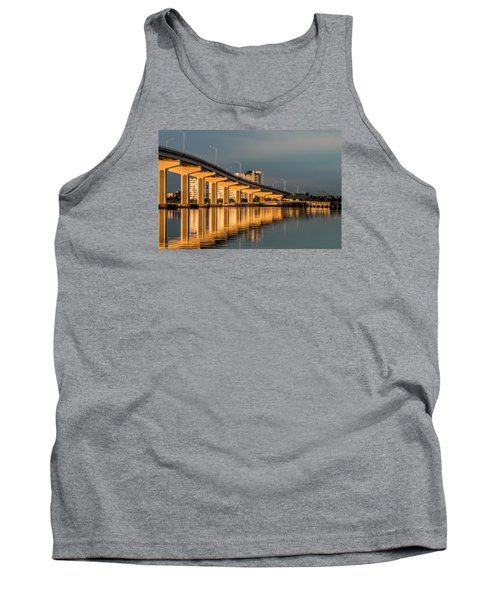 Reflections And Bridge Tank Top by Dorothy Cunningham