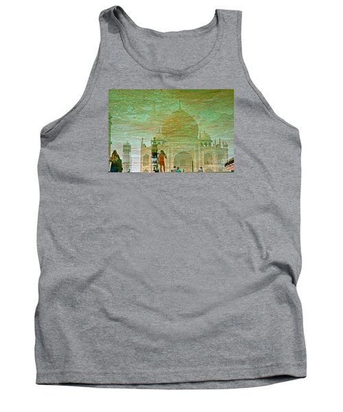 Reflections At The Taj Tank Top by Michael Cinnamond