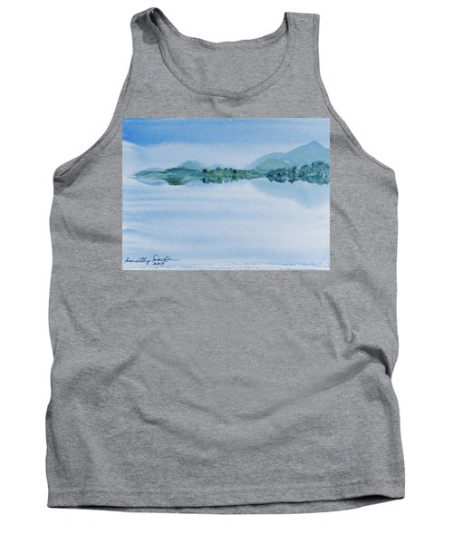 Reflection Of Mt Rugby In Bathurst Harbour Tank Top