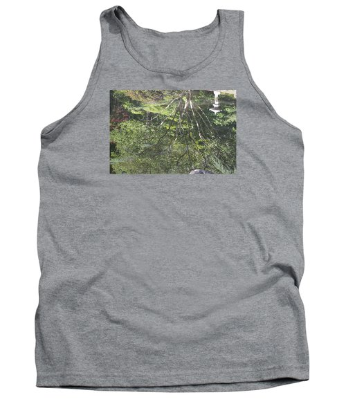 Tank Top featuring the photograph Reflections In The Japanese Gardens by Linda Geiger