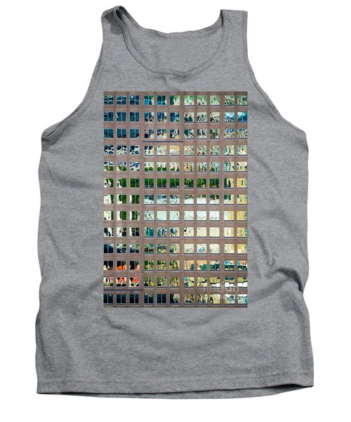 Reflections In Windows Of Office Building Tank Top