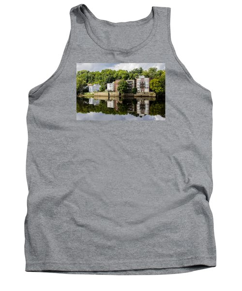 Reflections Of Haverhill On The Merrimack River Tank Top by Betty Denise