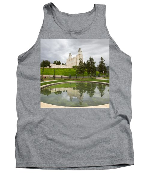 Reflections Of The Manti Temple At Pioneer Heritage Gardens Tank Top