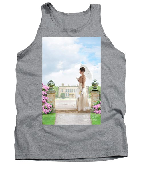 Regency Woman In The Grounds Of A Historic Mansion Tank Top