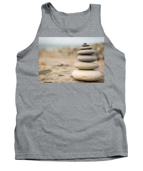 Tank Top featuring the photograph Relaxation Stones by John Williams