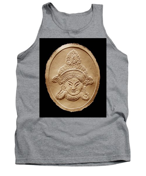 Relief Drawing Of Goddess Durga Devi  Tank Top by Suhas Tavkar