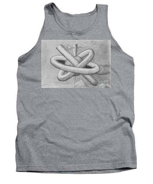 Tank Top featuring the drawing Religion Of Science by Yulia Kazansky