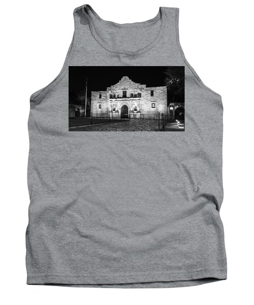 Remembering The Alamo - Black And White Tank Top