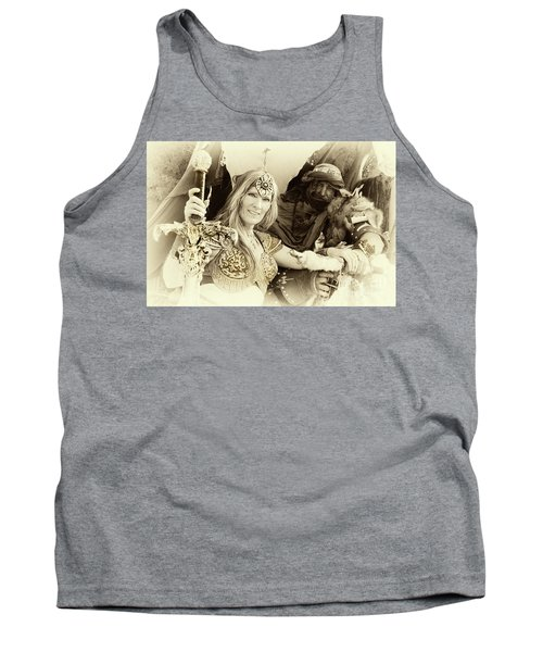 Tank Top featuring the photograph Renaissance Festival Barbarians by Bob Christopher
