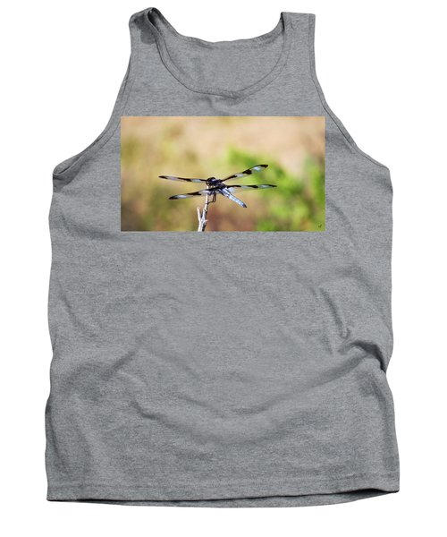 Rest Area, Dragonfly On A Branch Tank Top