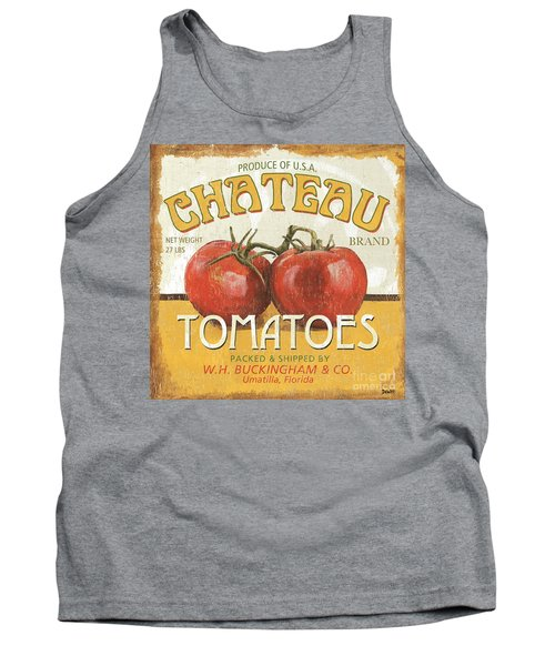 Retro Veggie Labels 4 Tank Top