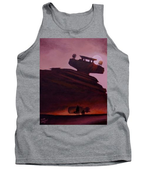 Tank Top featuring the painting Rey Looks On by Dan Wagner