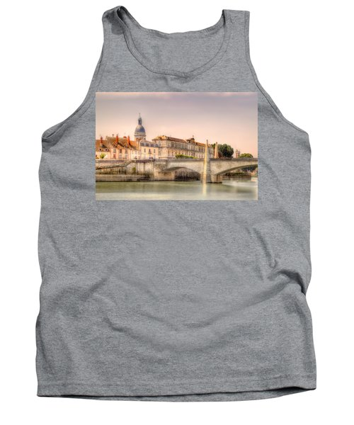 Bridge Over The Rhone River, France Tank Top
