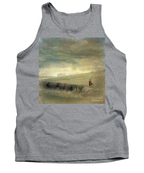 Tank Top featuring the photograph Rider In The Storm by LemonArt Photography