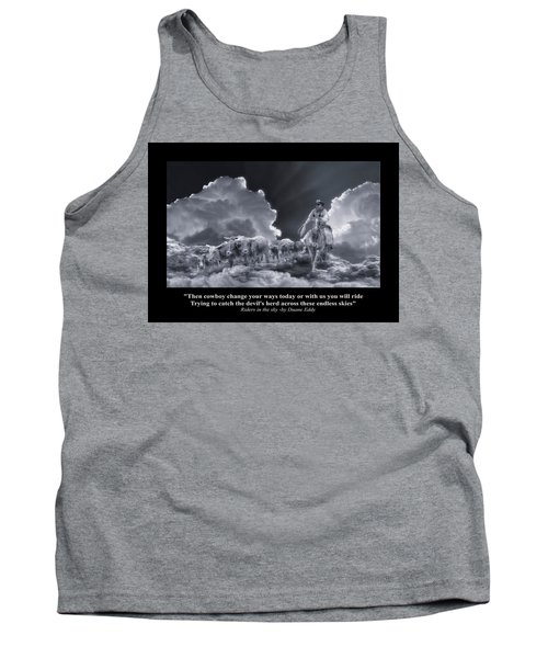 Riders In The Sky Bw Tank Top