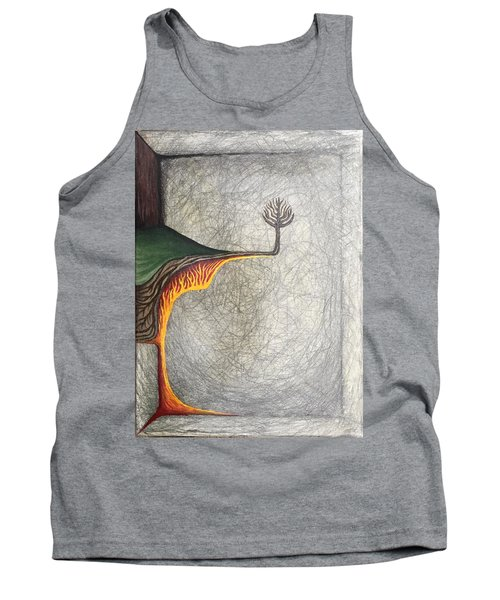 Tank Top featuring the mixed media Right Universe by Steve  Hester