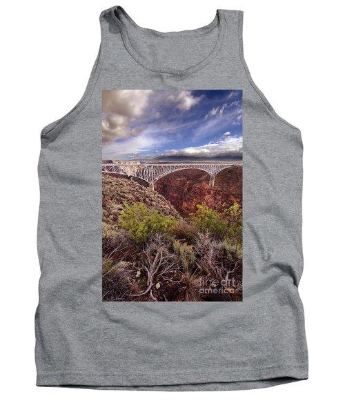 Rio Grande Gorge Bridge Tank Top by Jill Battaglia