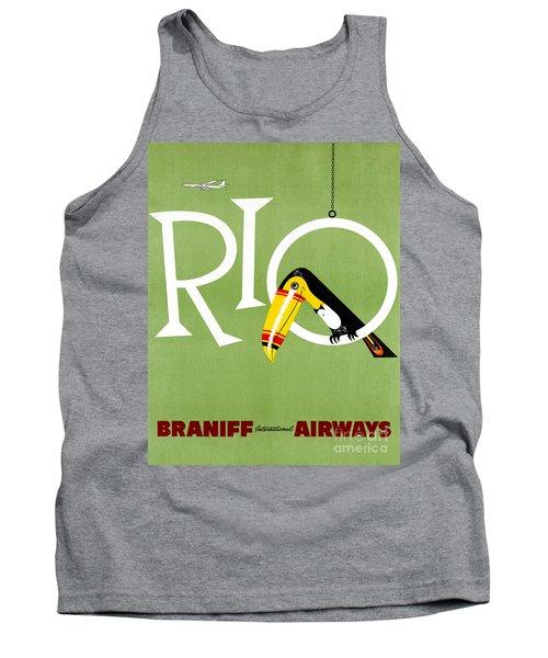 Rio Vintage Travel Poster Restored Tank Top