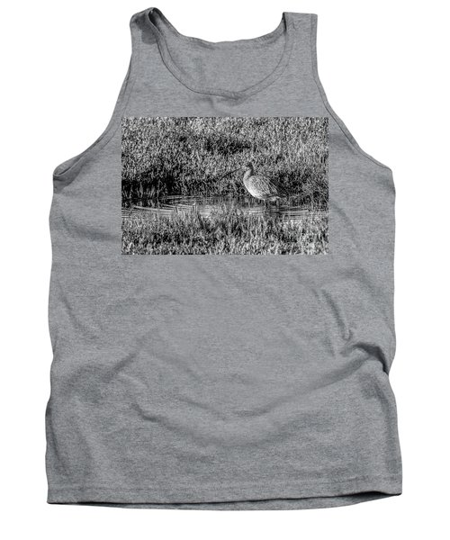 Camouflage, Black And White Tank Top