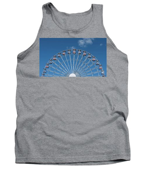Rise Up Ferris Wheel In The Clouds Seaside Nj Tank Top by Terry DeLuco