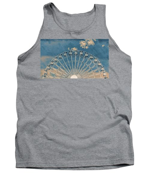 Rise Up Ferris Wheel In The Clouds Tank Top by Terry DeLuco