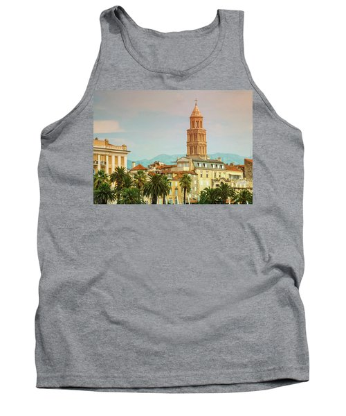 Riva Waterfront, Houses And Cathedral Of Saint Domnius, Dujam, D Tank Top