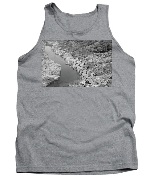 River On The Rocks. Bw Version Tank Top