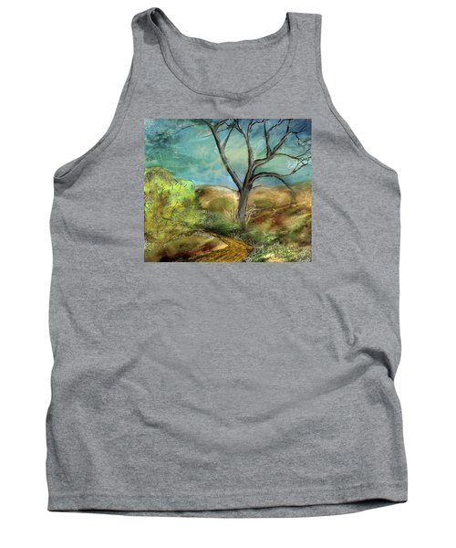 Tank Top featuring the painting Riverbed  by Annette Berglund