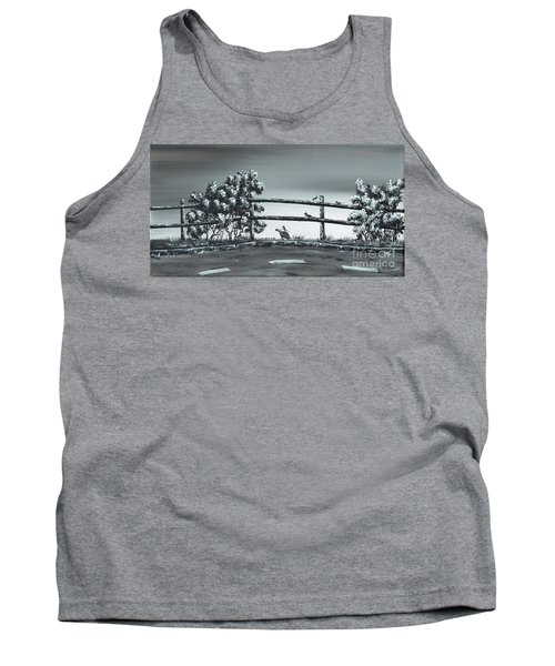 Tank Top featuring the painting Road Runner. by Kenneth Clarke