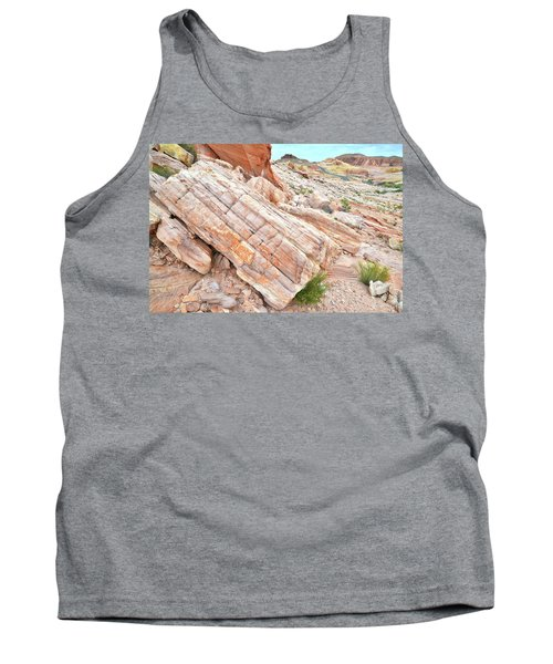 Tank Top featuring the photograph Roadside Sandstone In Valley Of Fire by Ray Mathis