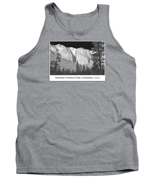 Tank Top featuring the photograph Rock Formation Yosemite National Park California by A Gurmankin