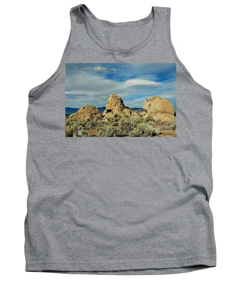 Tank Top featuring the photograph Rock Formations At Pyramid Lake by Benanne Stiens