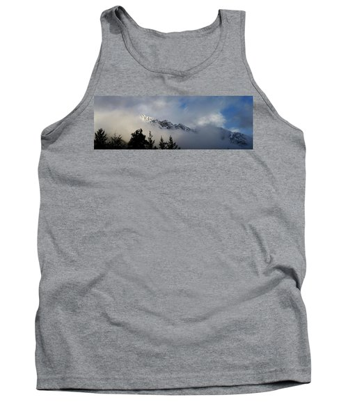 Rockies In The Clouds. Tank Top by Ellery Russell