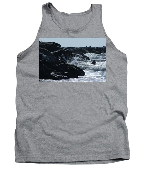 Rocks On The Jetti At Cocoa Beach Tank Top