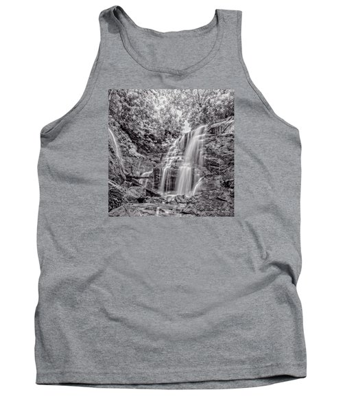 Tank Top featuring the photograph Rocky Falls - Bw by Christopher Holmes