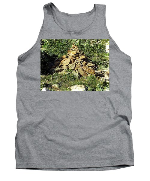 Rocky Mountain Cairn Tank Top by Joseph Hendrix