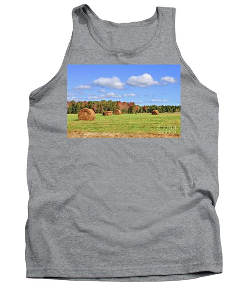 Rolls Of Hay On A Beautiful Day Tank Top