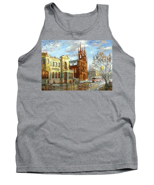Tank Top featuring the painting Roman Catholic Church by Dmitry Spiros