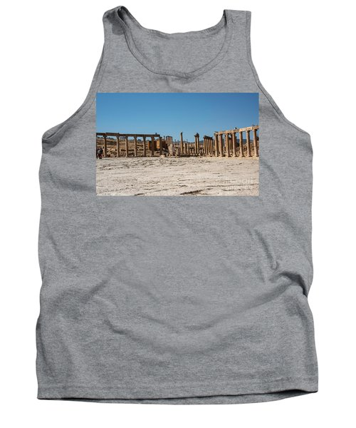 Tank Top featuring the photograph Roman Ruins At Ajloun by Mae Wertz