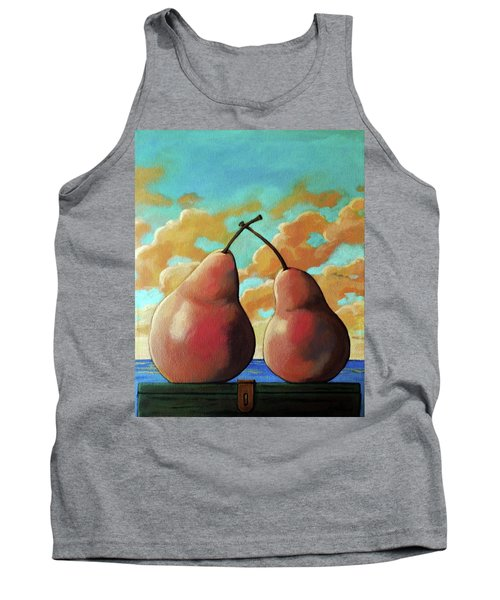 Tank Top featuring the painting Romantic Pear by Linda Apple