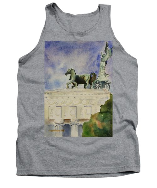 Tank Top featuring the painting Rome Souvenir by Geeta Biswas