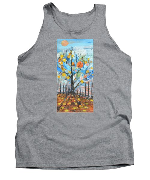 Tank Top featuring the painting Roots by Evelina Popilian