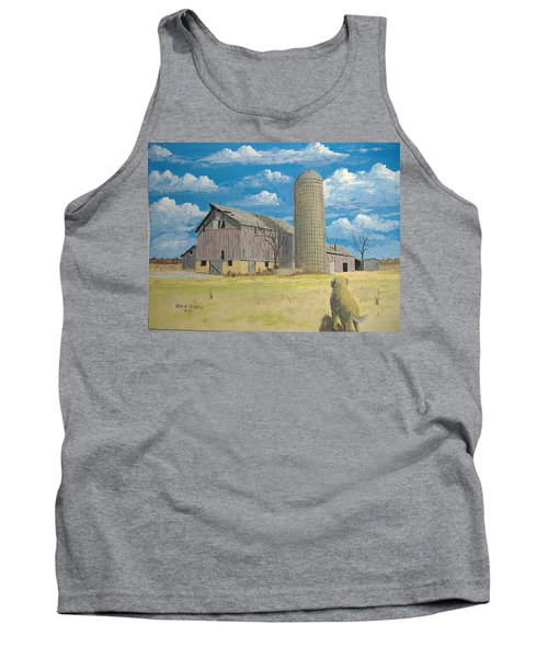 Tank Top featuring the painting Rorabeck Barn by Norm Starks